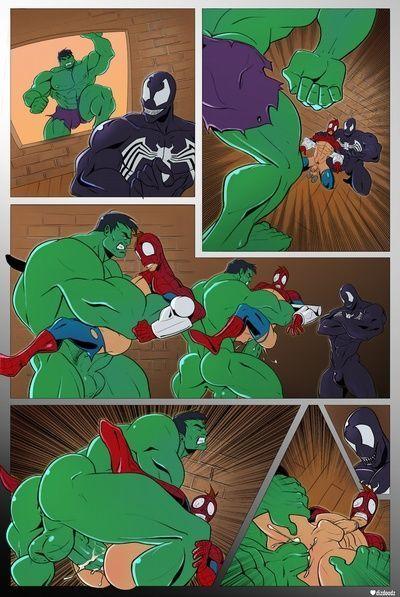 蜘蛛侠 vs 绿巨人