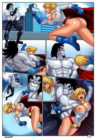 सींग का बना हुआ superheroines
