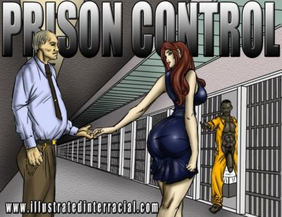 Gefängnis Kontrolle illustriert interracial