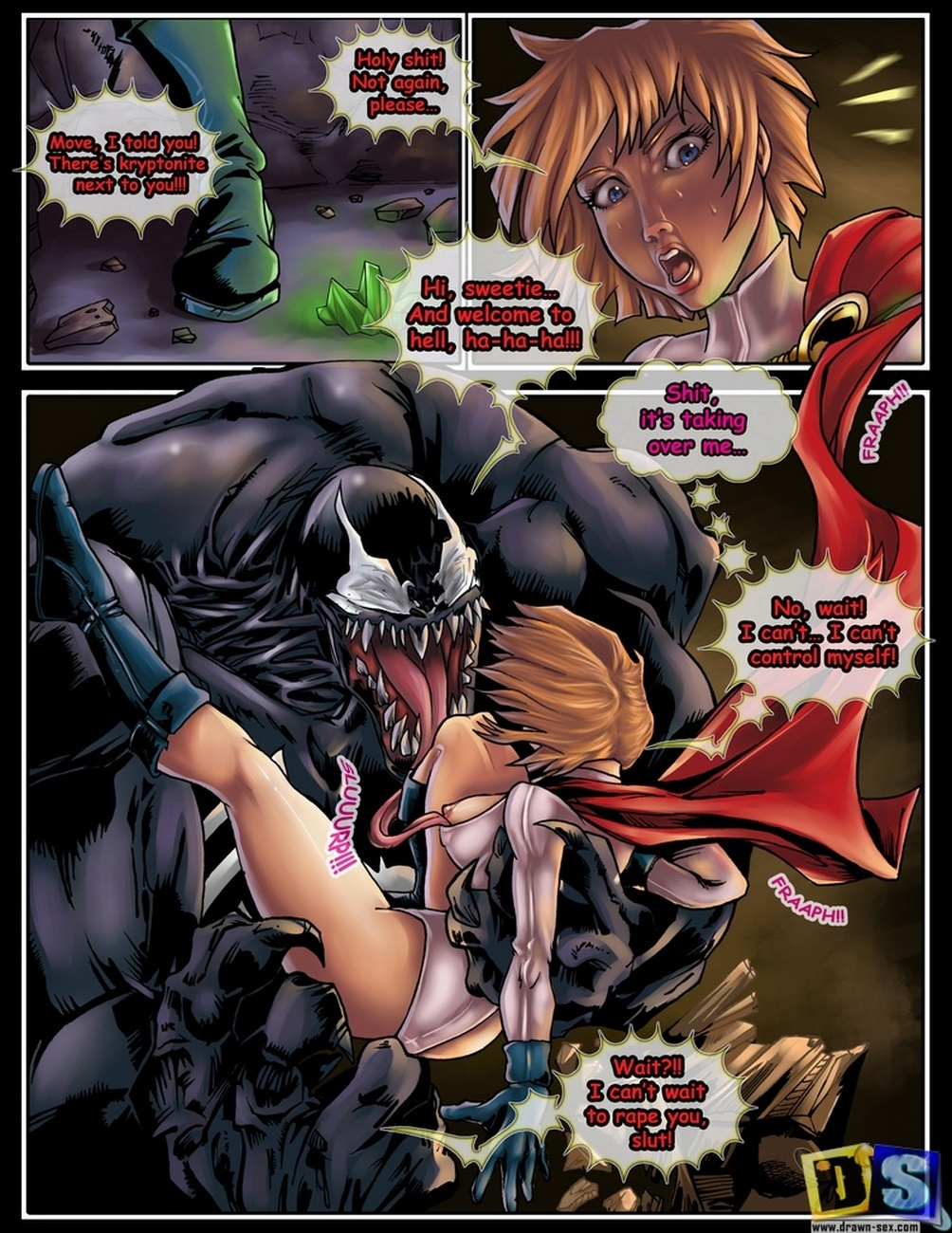 Venom power girl vs