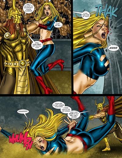 9 superheroines مقابل امراء الحرب 3