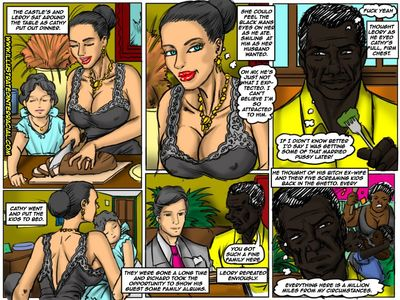 la propriété illustré interracial