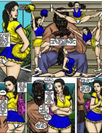 illustrated interracial- Cheerleaders