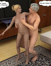 Cathy double penetrated by dad and bro