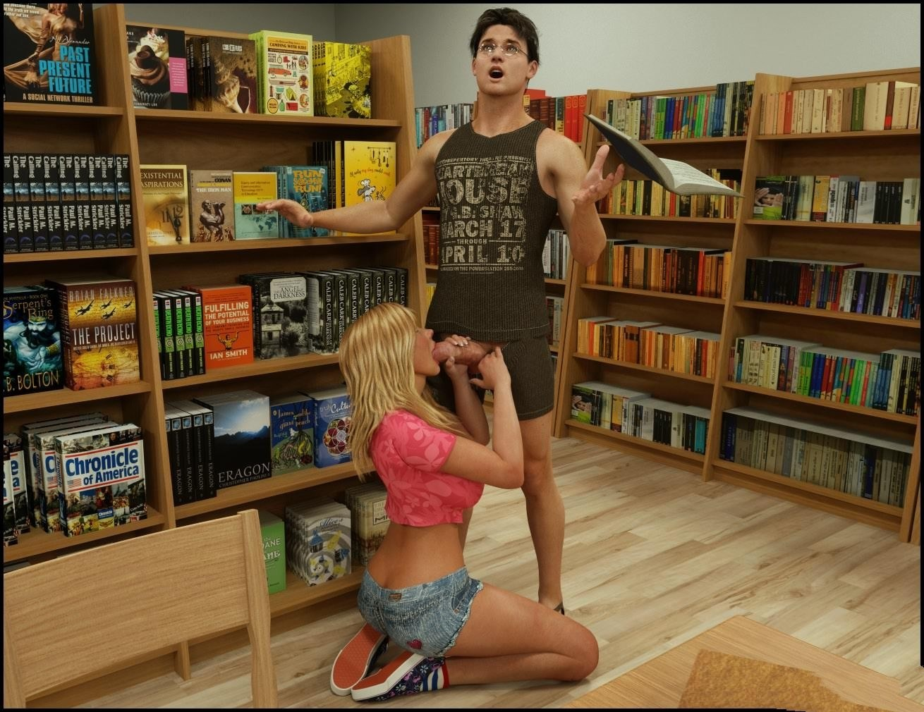 Blackadder- The library