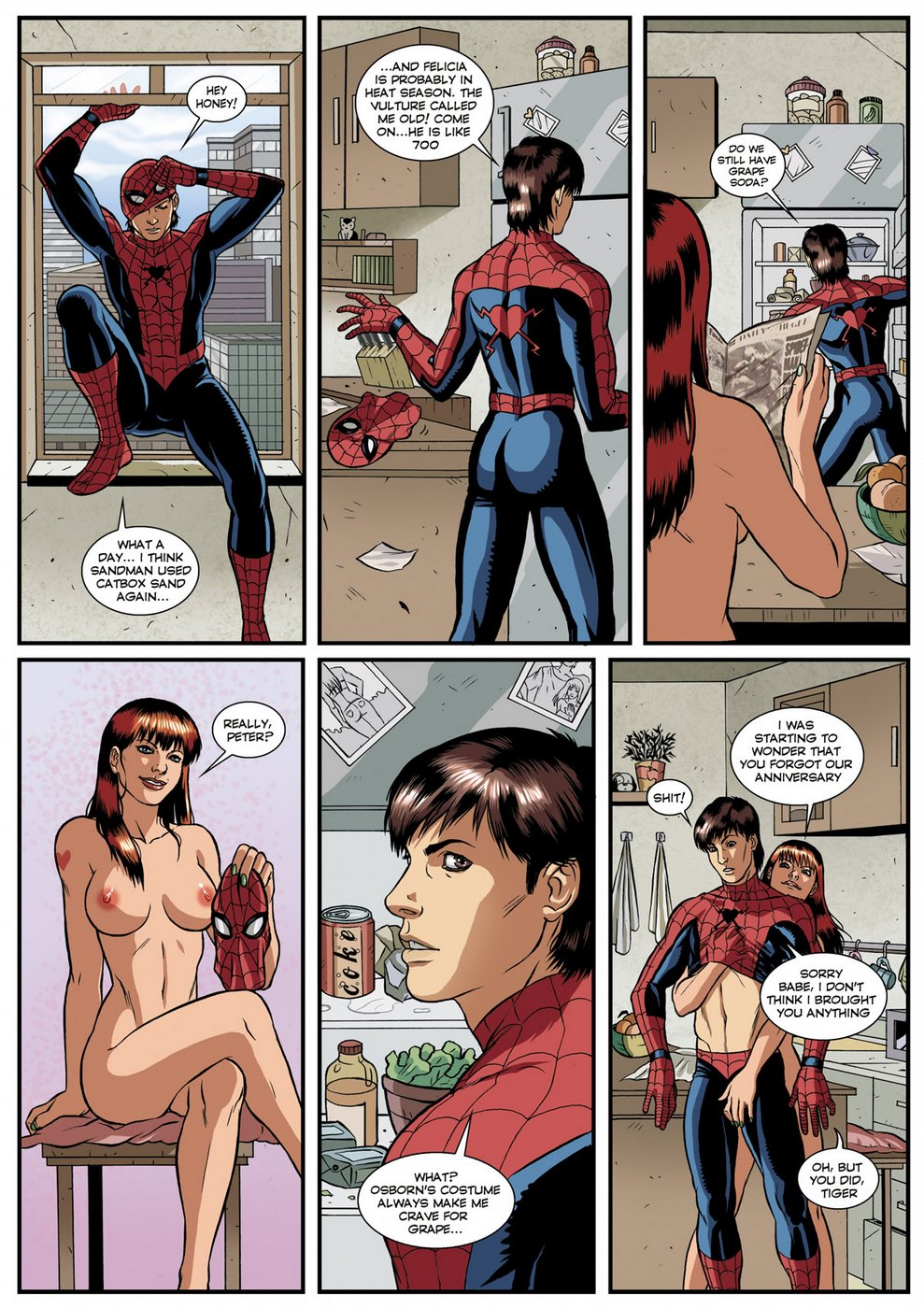 spiderman sessuale simbiosi 1