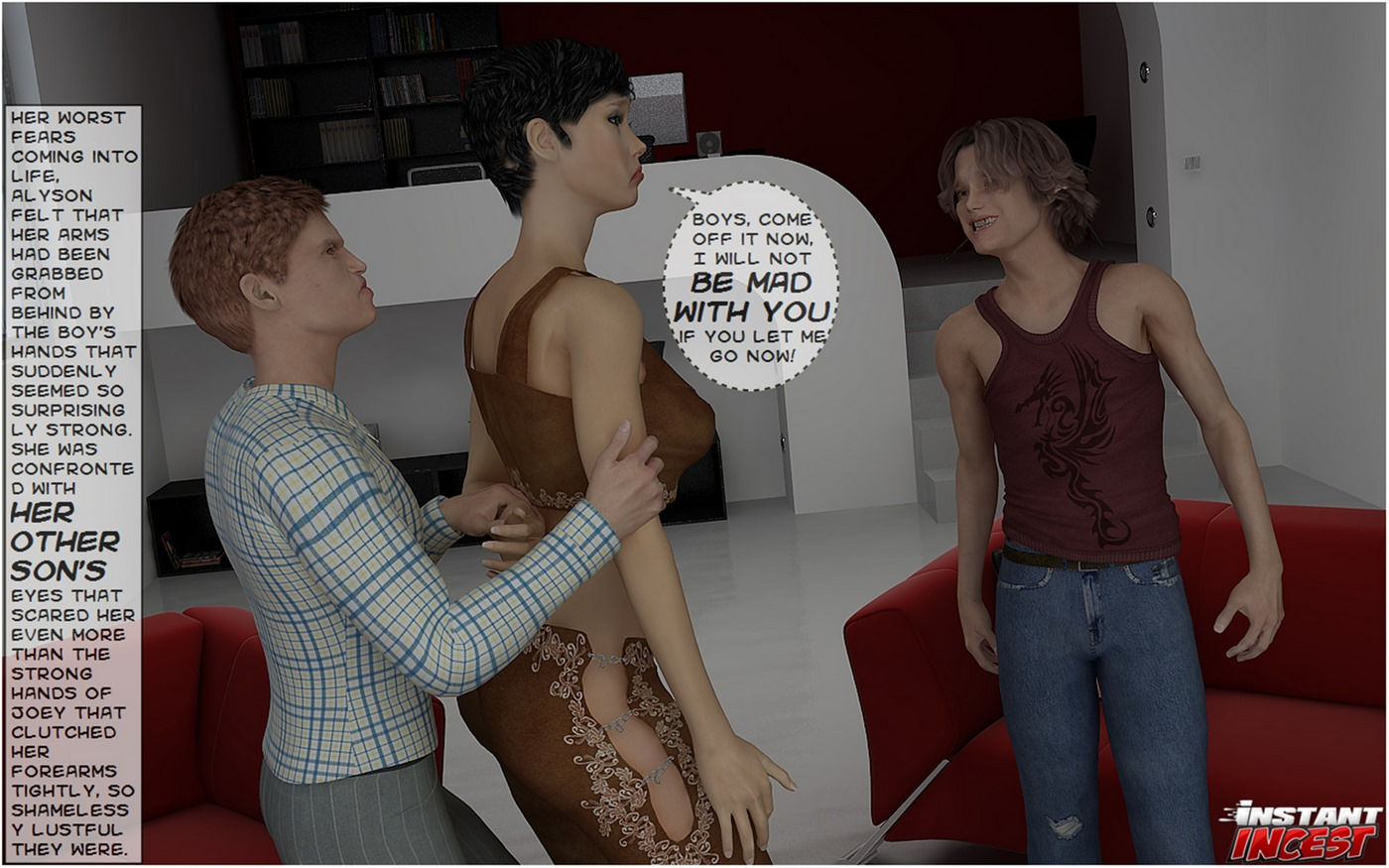 Sons seducing hot momma- Instant Incest