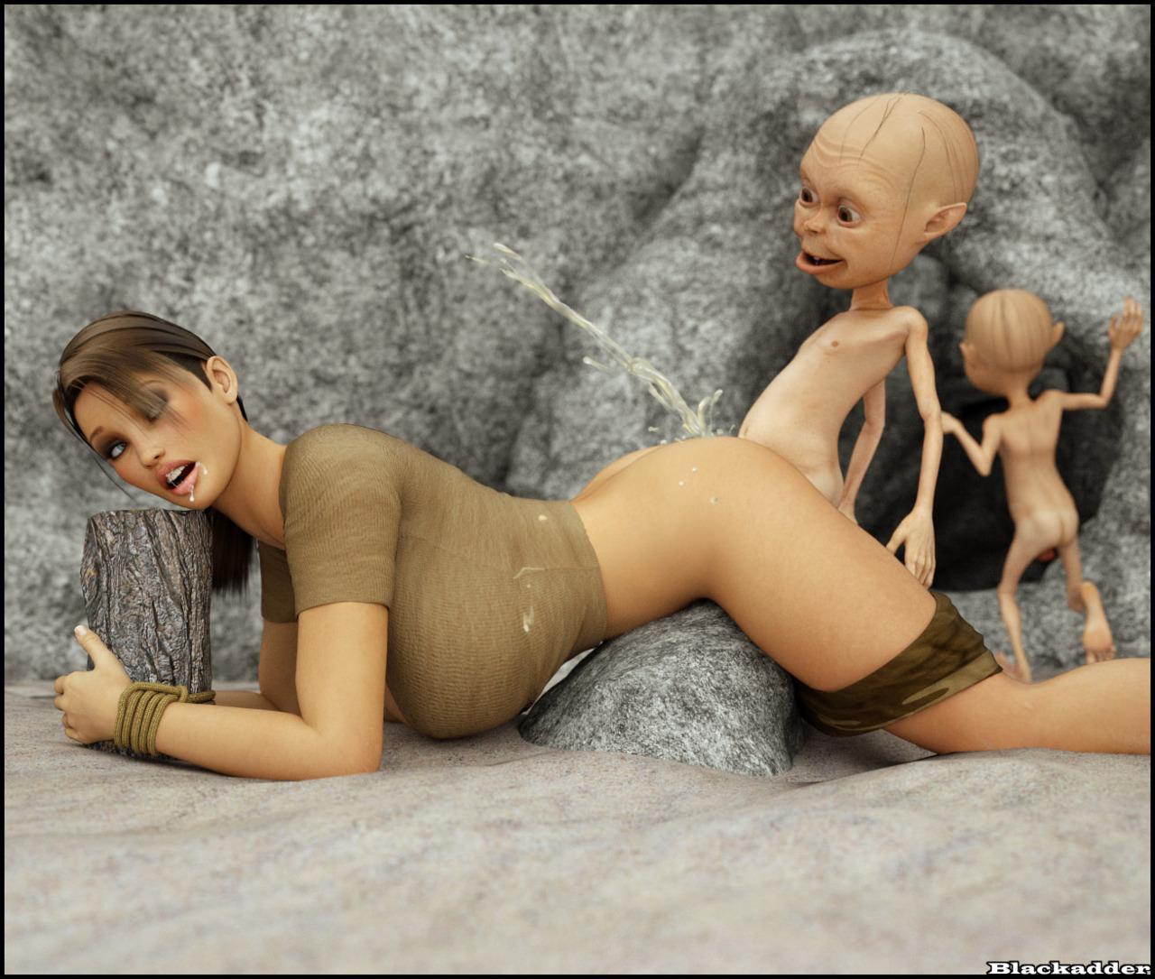 Lara Croft gobelin baise - PARTIE 2