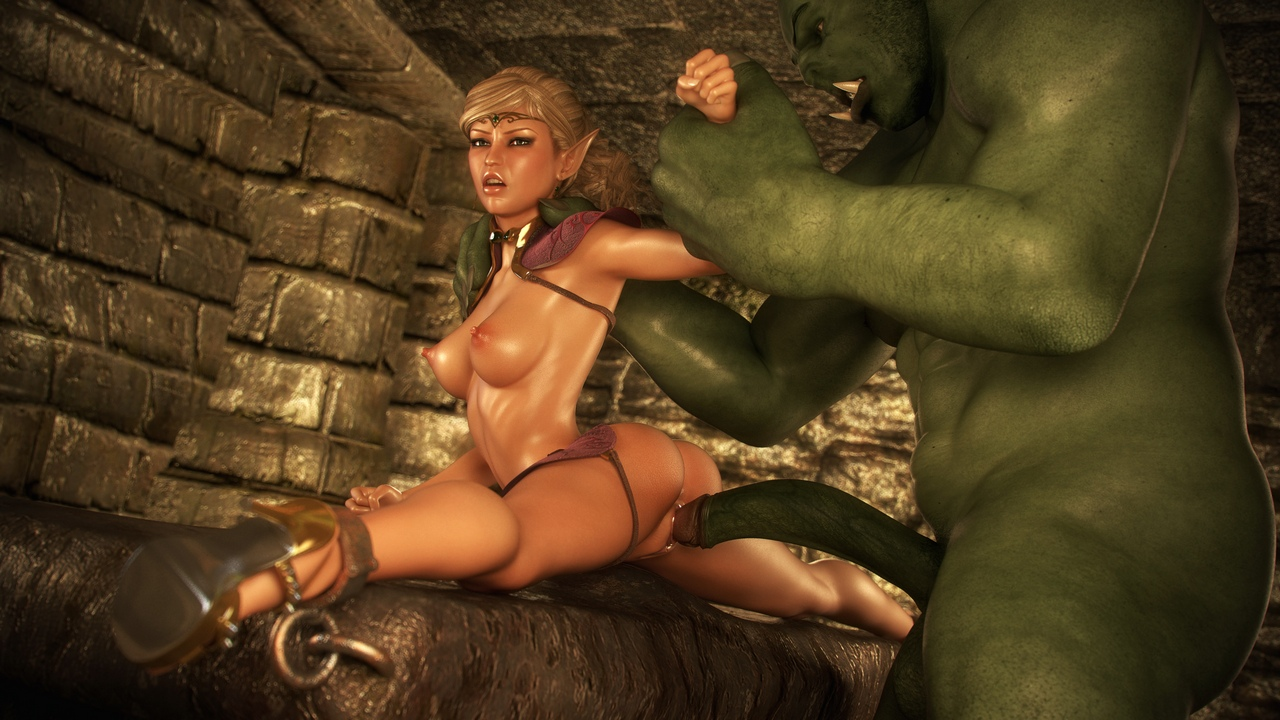 Monster fuck girl in dungeon 3d hardcore pics