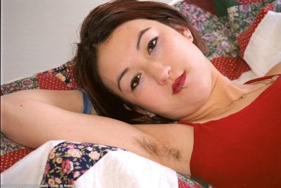 Pierced Asian first timer Hazel sliding panties down shapely legs