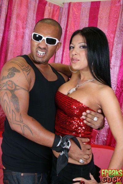 Naughty Latina babe Maya Gates ass fucking with a monster cock