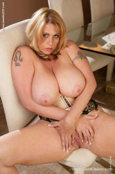Fatty babe with big tits masturbating her tight wet pussy - part 2