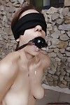 Blindfolded hottie with shaved gash gets tortured and roughly fucked - part 2